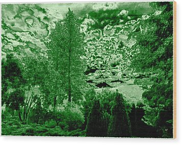 Green Zone Wood Print by Will Borden