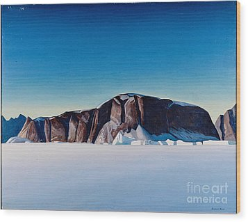 Greenland Coast Wood Print by Kent Rockwell