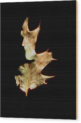 Greenman Wood Print by Arla Patch