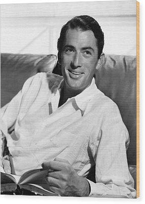 Gregory Peck In The Late 1940s Wood Print by Everett