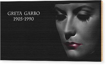 Greta Garbo 1905 1990 Wood Print by Steve K