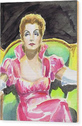 Greta Garbo Wood Print by Mel Thompson