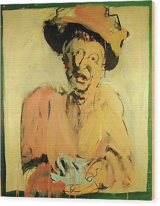 Wood Print featuring the painting Gretchen Colnik by Les Leffingwell