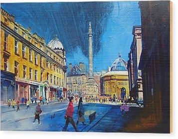 Grey Street Newcastle Wood Print by Neil McBride