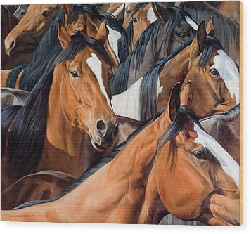 Gridlock  Wood Print by JQ Licensing