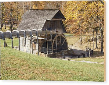 Grist Mill 2 Wood Print by Franklin Conour