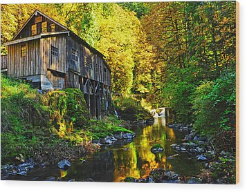 Wood Print featuring the photograph Grist Mill by Jim Boardman