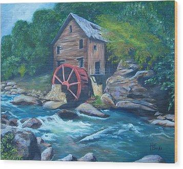 Grist Mill Wood Print by Tersia Brooks