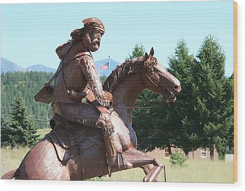 Grizzly Jack Of The Rockies Wood Print by Alan Derber