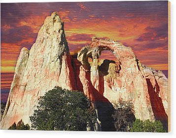 Grosvners Arch Wood Print by Marty Koch