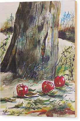 Ground Apples Wood Print by John Williams