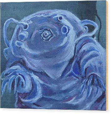 Wood Print featuring the painting Ground Control To Major Tardigrade by Jessmyne Stephenson