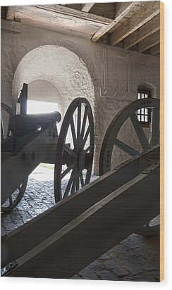 Ground Floor Cannons Wood Print by Peter Chilelli