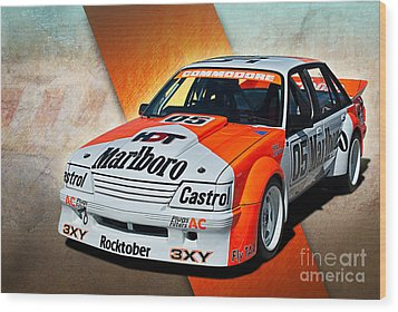 Group C Vk Commodore Wood Print by Stuart Row