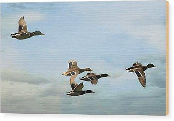 Group Flight Wood Print by Fraida Gutovich