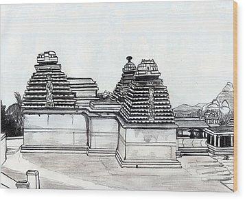 Group Of Jain Temples Hampi Wood Print by Shashi Kumar