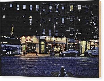 Grunge Street Wood Print by Robert Ponzoni