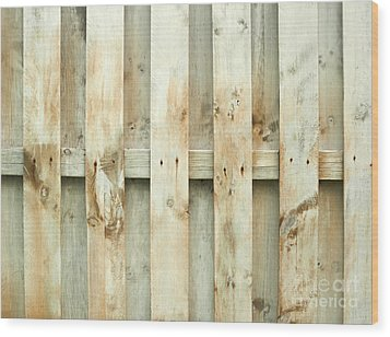 Grungy Old Fence Background Wood Print by Blink Images