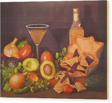 Wood Print featuring the painting Guacamole by Joe Bergholm