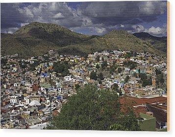 Guanajuato Vista No. 1 Wood Print by Lynn Palmer