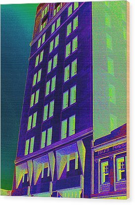 Wood Print featuring the photograph Guaranty Bank Building by Louis Nugent