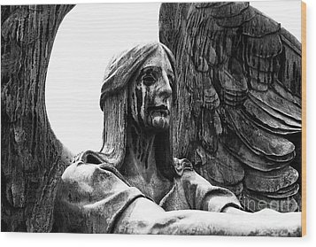Guardian Angel Wood Print by Anne Raczkowski