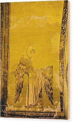Guardian Angel Byzantine Art Wood Print by Artur Bogacki