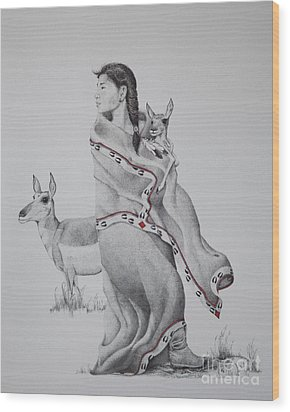 Guardian Of The Herd Wood Print by Tracy L Teeter