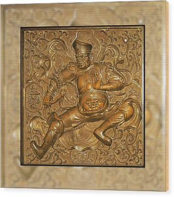 Guardian Warrior - It Can't Hurt To Have Your Own Wood Print by Christine Till