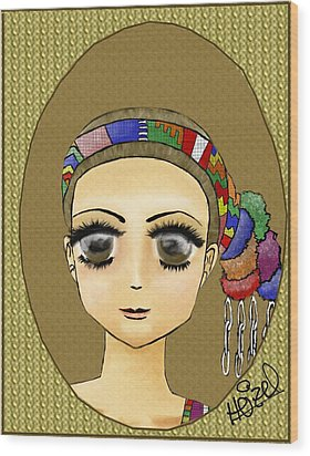 Guatemalan Costume Santo Tomas La Union Wood Print by Heizel Gonzalez