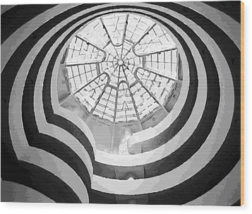 Guggenheim Museum Bw16 Wood Print by Scott Kelley