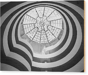Guggenheim Museum Bw200 Wood Print by Scott Kelley