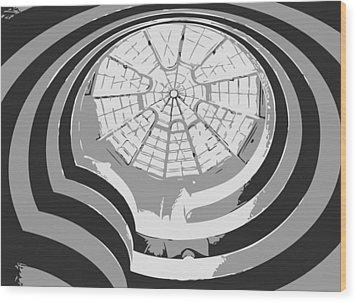 Guggenheim Museum Bw3 Wood Print by Scott Kelley