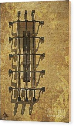 Guineveres Window Wood Print by Van Schipper