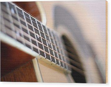 Guitar 1 Wood Print by James Iorfida