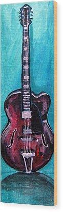 Wood Print featuring the painting Guitar 2 by Amanda Dinan