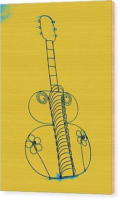 Guitar 2 Wood Print by Mauro Celotti