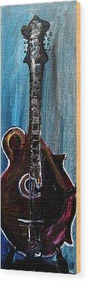 Wood Print featuring the painting Guitar 3 by Amanda Dinan