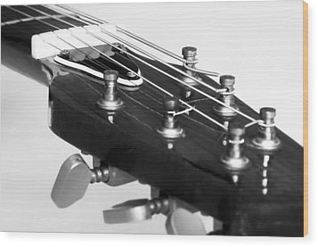 Guitar Wood Print by Svetlana Sewell