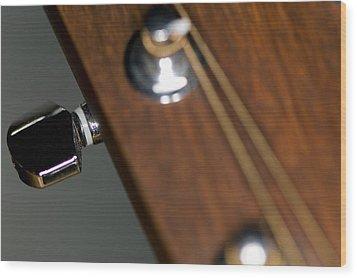 Guitar Tension Wood Print by C Ribet