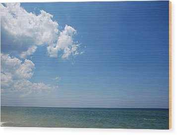 Wood Print featuring the photograph Gulf Sky by Kay Lovingood