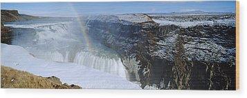 Gullfoss Falls Wood Print by Chris Madeley