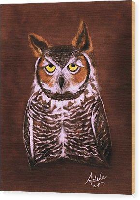 Gullie Wood Print by Adele Moscaritolo