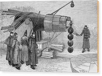 Gun Electromagnet, 19th Century Wood Print by