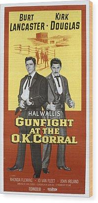Gunfight At The O.k. Corral, Burt Wood Print by Everett