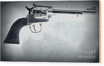Wood Print featuring the photograph Guns And Leather 3 by Deniece Platt