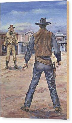 Gunslingers Wood Print