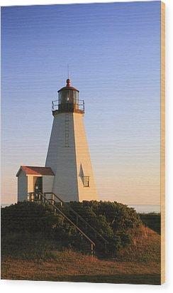 Gurnet Point Lighthouse Wood Print by Roupen  Baker