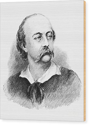 Gustave Flaubert, French Author Wood Print by Photo Researchers