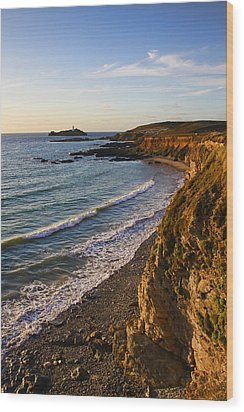 Gwithian Beach Wood Print by Ken Brannen